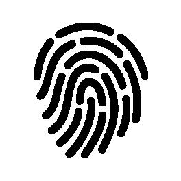 Ein Symbol eines Fingerabdrucks